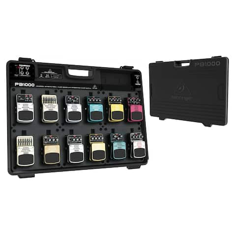 Behringer Pedal Board PB1000 Universal Effects Pedal Floor Board with Integrated Power Supply
