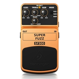 Behringer SUPER FUZZ SF300 3-Mode Fuzz Distortion Effects Pedal - N/A