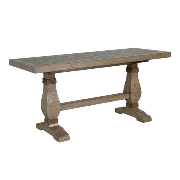 Kasey Reclaimed Wood Gathering Table By Kosas Home Desert Grey