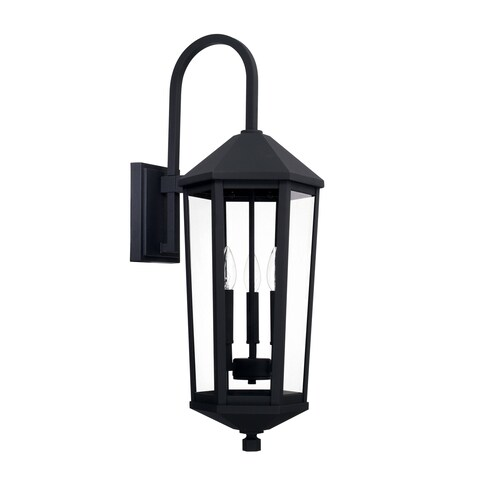 Capital Ellsworth 3-light Black Outdoor Wall Lantern