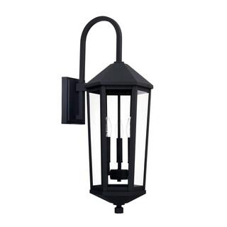 Capital Ellsworth 3-light Black Outdoor Wall Lantern