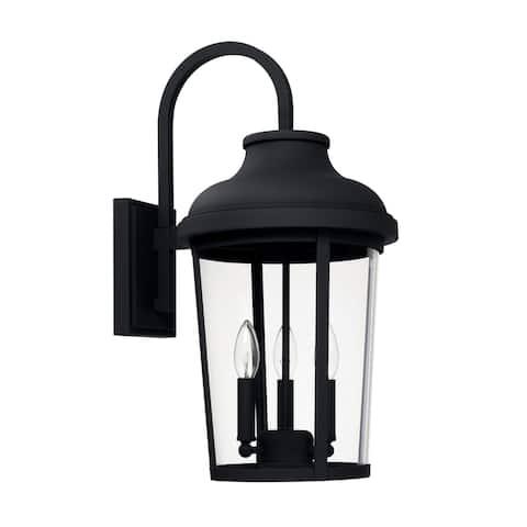 Dunbar 3-light Black Outdoor Wall Lantern