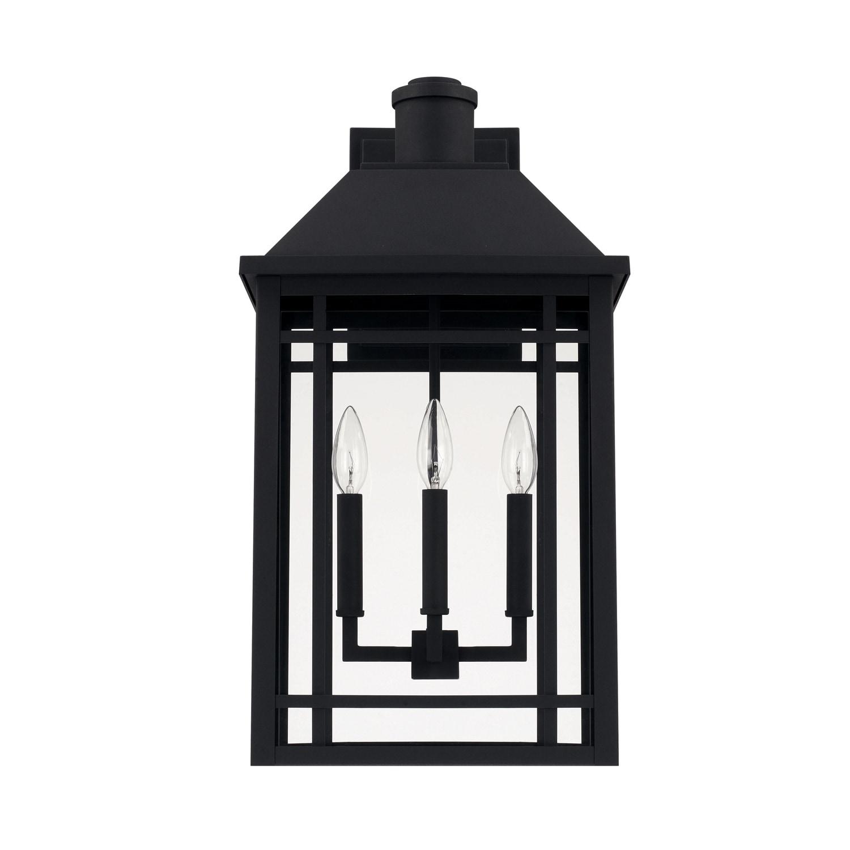 Picture of: Braden 3 Light Black Outdoor Wall Lantern Overstock 22859310