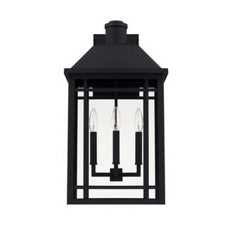 Capital Braden 3-light Black Outdoor Wall Lantern