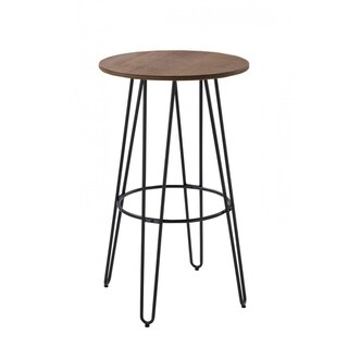 Modrest Gelson Modern Round Bamboo Top Bar Table