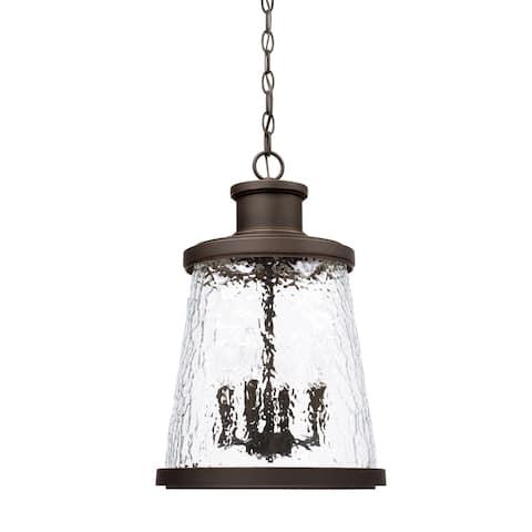 Tory 4-light Oiled Bronze Outdoor Hanging Lantern