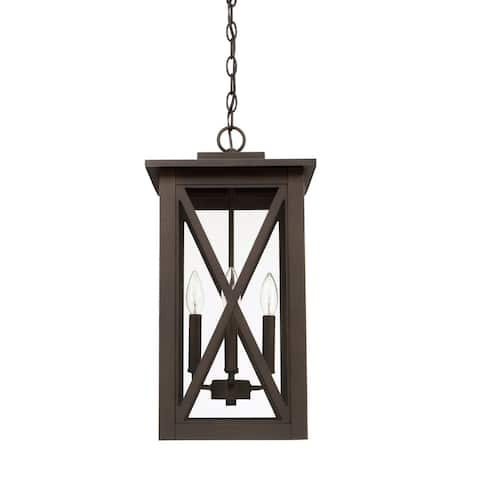 Avondale 4-light Oiled Bronze Outdoor Hanging Lantern