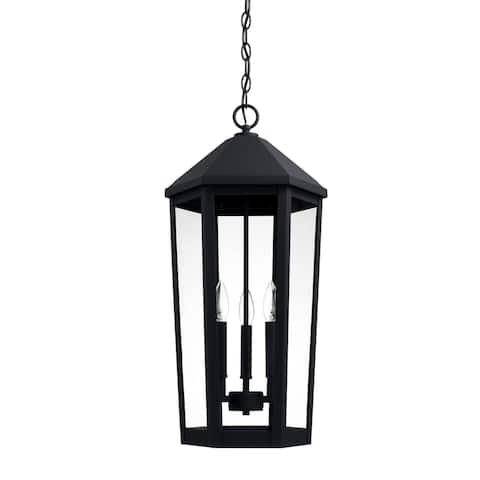 Ellsworth 3-light Black Hanging Lantern