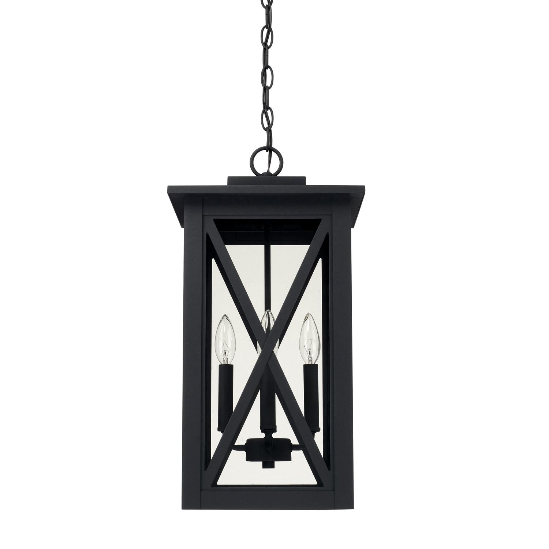 Black Outdoor Hanging Lantern