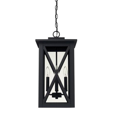 Capital Lighting Avondale 4-light Black Outdoor Hanging Lantern