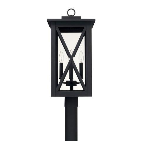 Capital Lighting Avondale 4-light Black Outdoor Post Mount