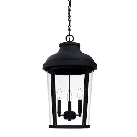 Dunbar 3-light Black Outdoor Hanging Lantern
