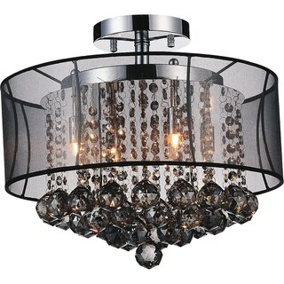 Chrome Finish 6-Light Flush Mount Fixture