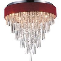 Franca Chrome Stainless Steel 8-light Flush-mount Light