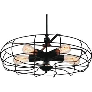 5-light Flush Mount Industrial Ceiling Light