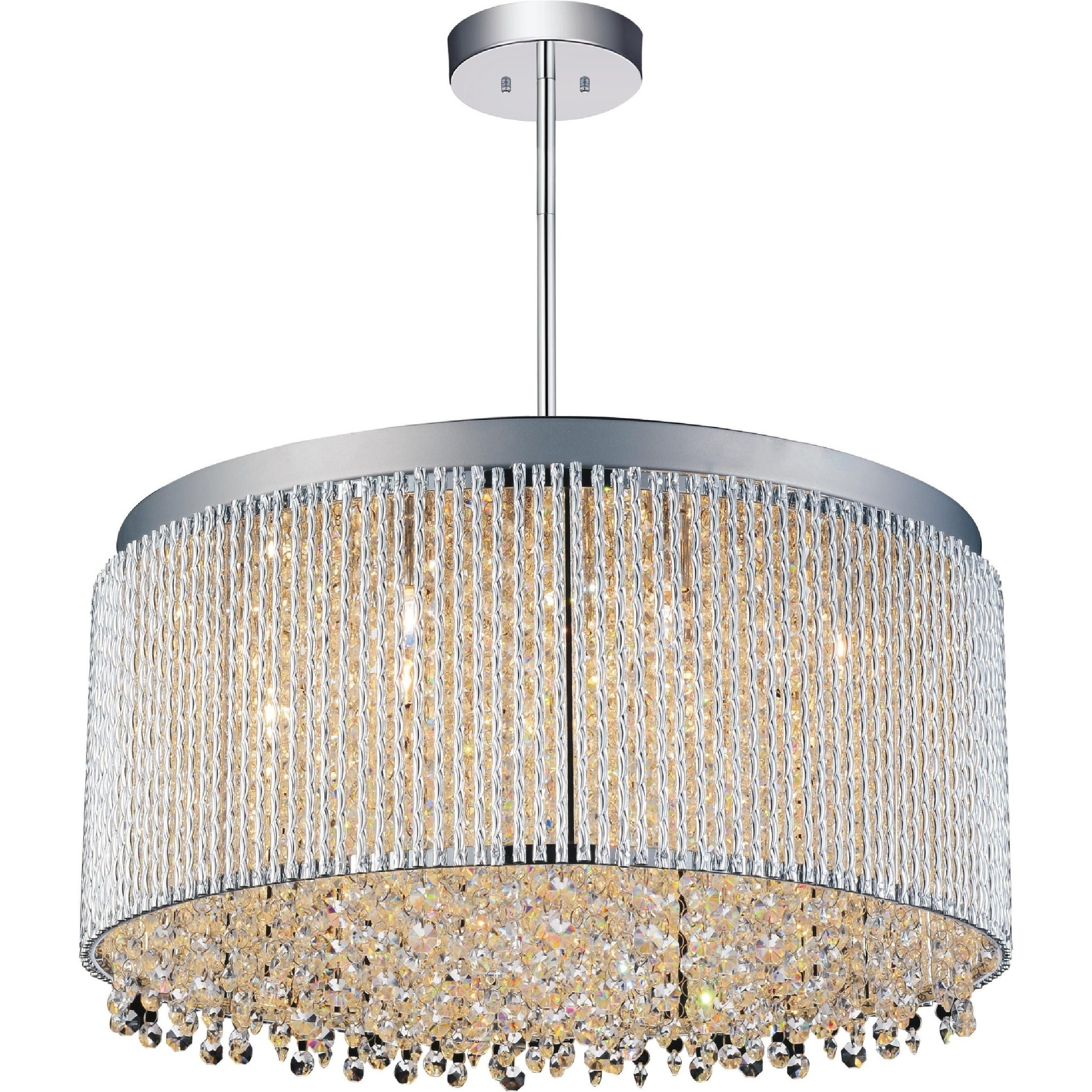 Shop Black Friday Deals On Silver Orchid Bowen 12 Light Drum Shade Crystal Chandelier Overstock 22859707
