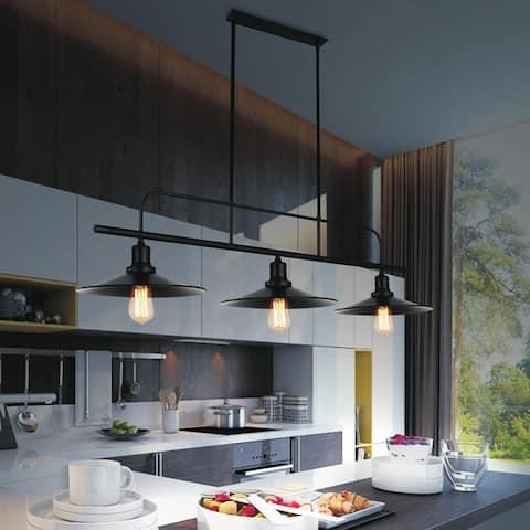 Carbon Loft Bonderlay 3-light Black Chandelier