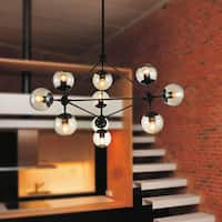Black Stainless Steel 10-light Chandelier