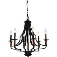 Black Stainless Steel 6-light Chandelier