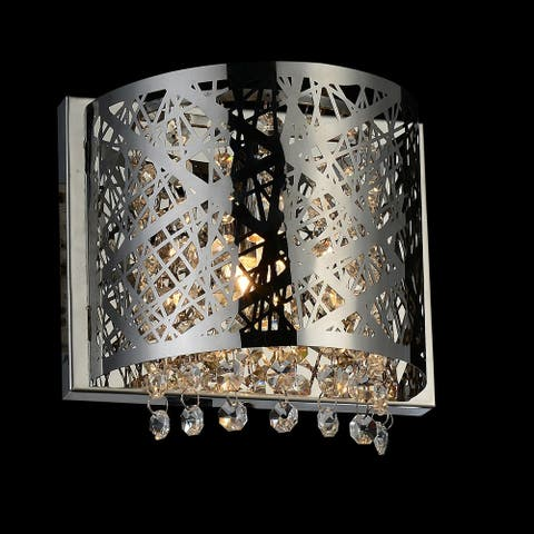 Silver Orchid Finlayson Chrome 1-light Wall Sconce