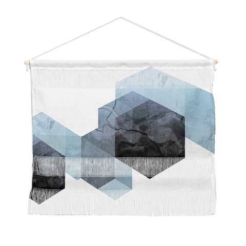 Emanuela Carratoni Neutral Marble Geometry Landscape Wall Hanging