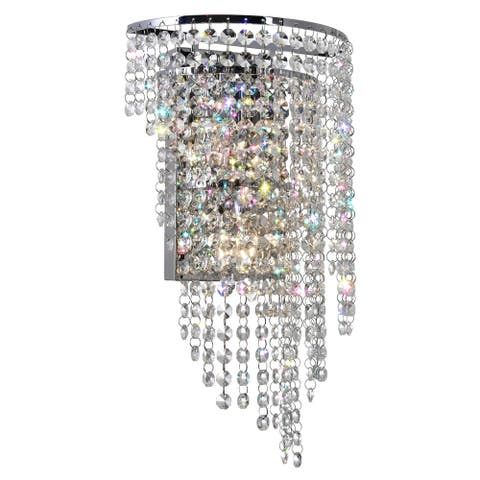Silver Orchid Appel 3-light Wall Sconce with Chrome Finish