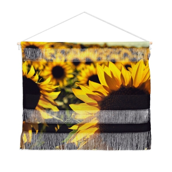 Olivia St Claire Summer Sunflower Love Landscape Wall Hanging Tapestry