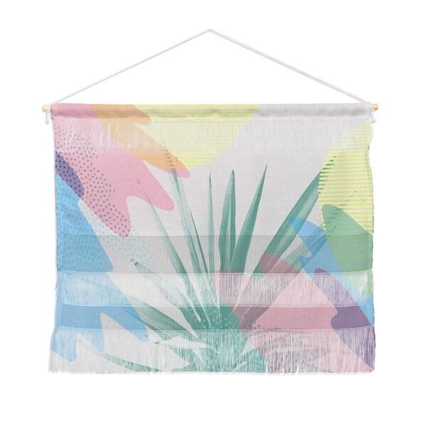 Emanuela Carratoni Geometric Palm Landscape Wall Hanging Tapestry