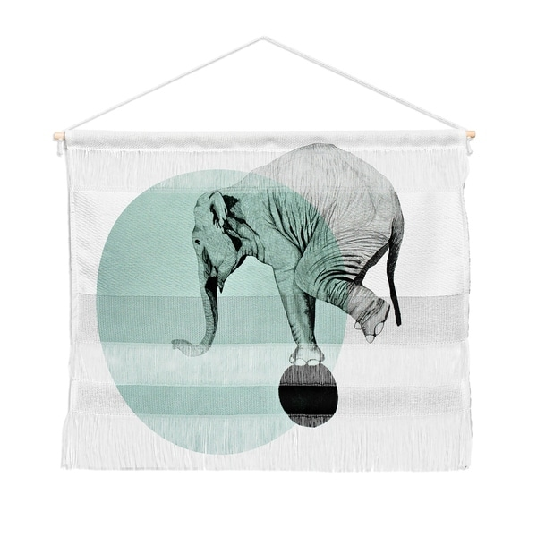 Morgan Kendall blue elephant Landscape Wall Hanging Tapestry
