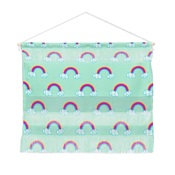 Lisa Argyropoulos Rainbows Mint Landscape Wall Hanging Tapestry
