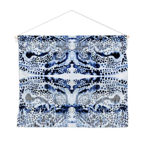 SYMMETRIC DREAM BLUE Landscape Wall Hanging Tapestry