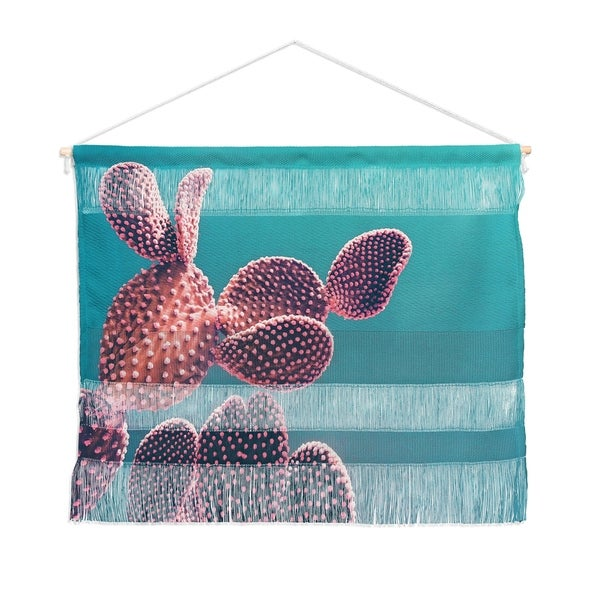 Emanuela Carratoni Candy Cactus Landscape Wall Hanging Tapestry