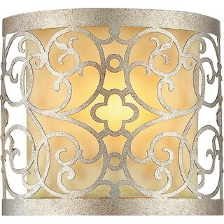 1 Light Wall Sconce with Rubbed Silver Finish