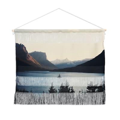 Catherine McDonald Montana Dusk Landscape Wall Hanging Tapestry