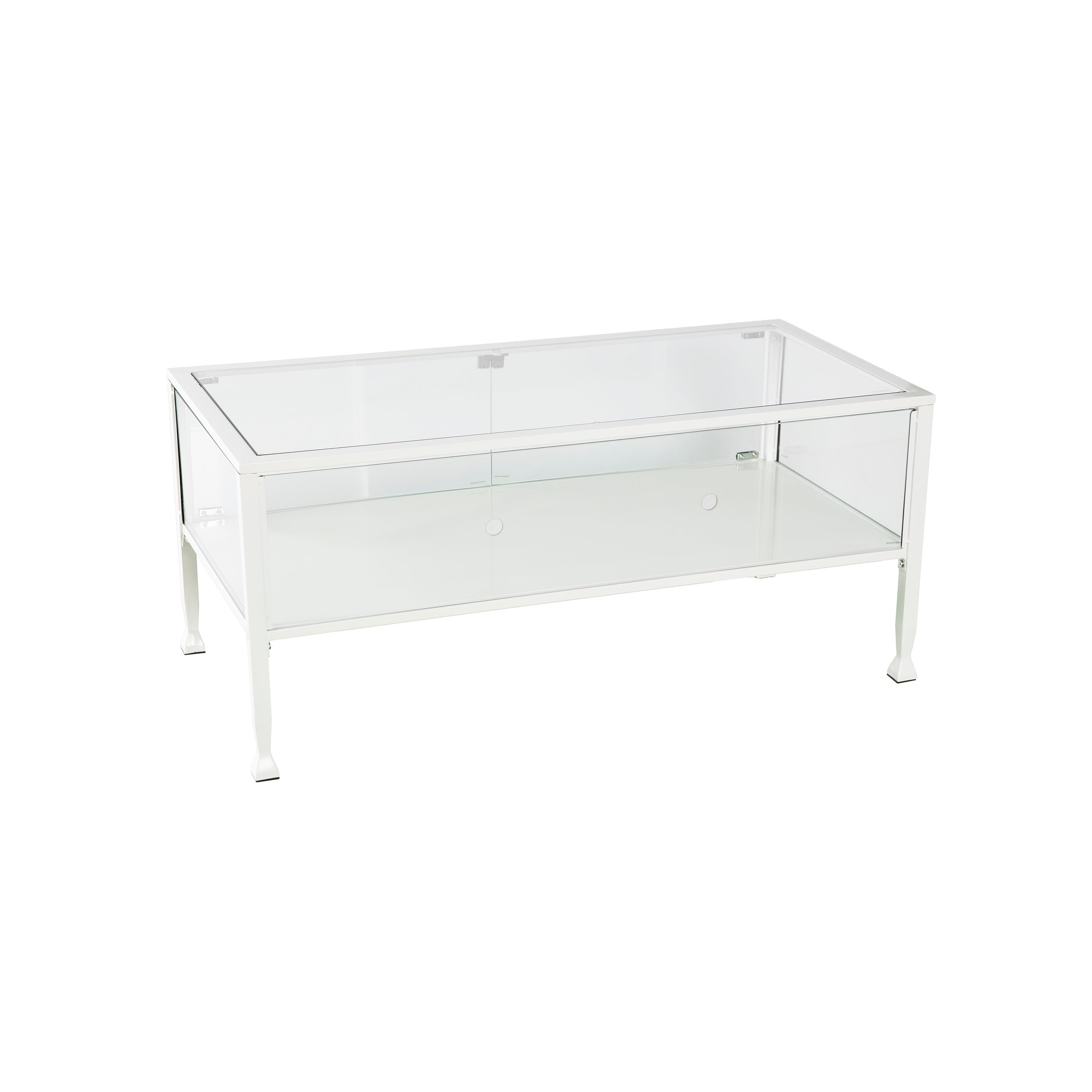 Shop Black Friday Deals On Terrarium White Display Cocktail Table Overstock 22860199