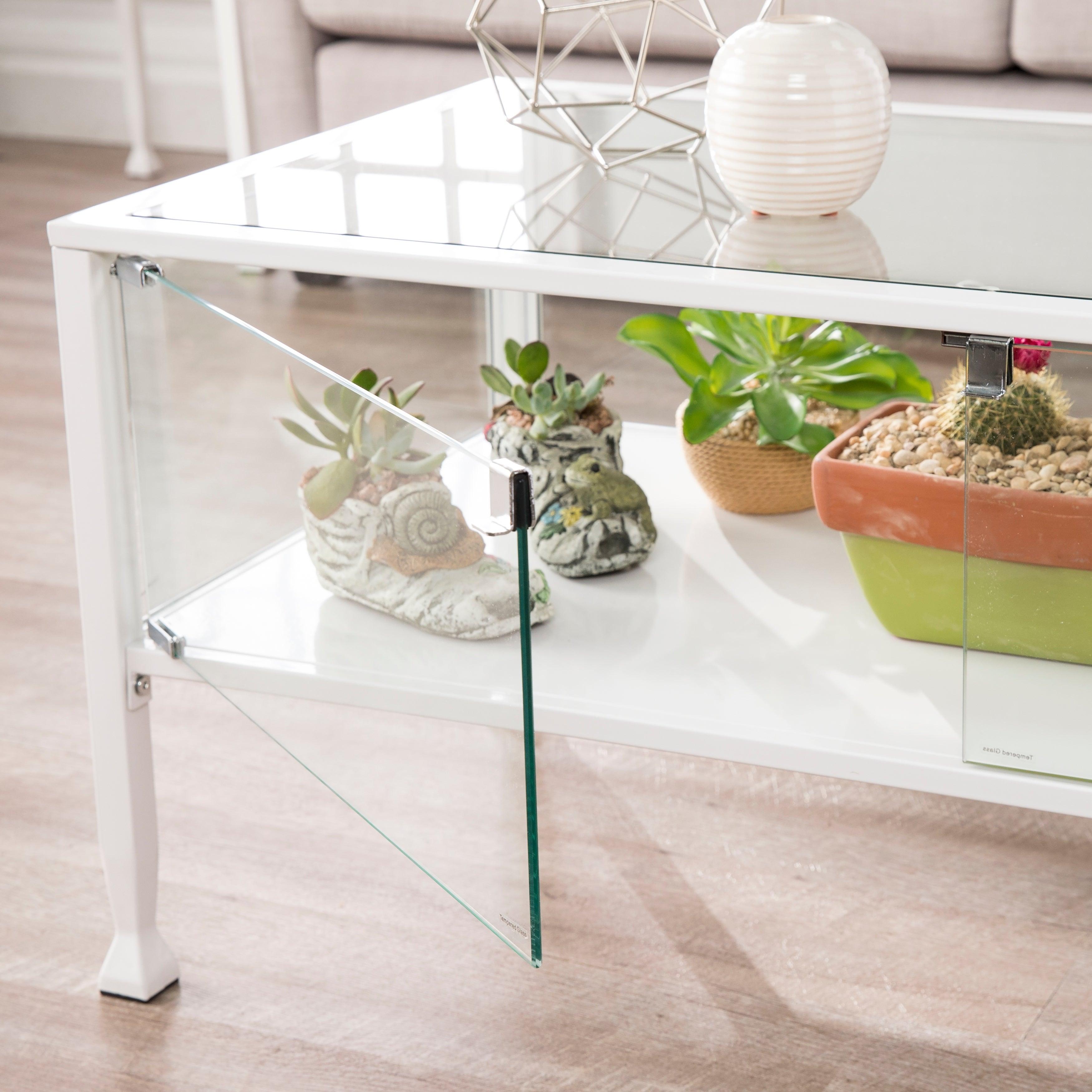 Terrarium White Display Tail Table