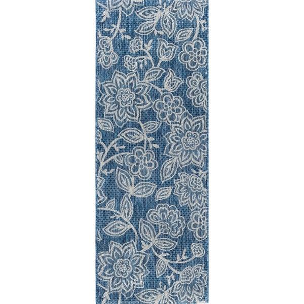 Alise Rugs Colonnade Transitional Floral Runner Rug
