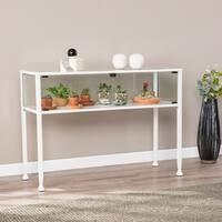 Harper Blvd Terrarium White Display Console Table