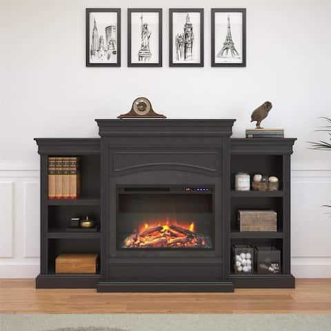 Avenue Greene Aston Black Mantel Fireplace