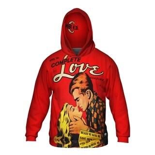 Mens Hoodie Sweater Love Scandal Comic Retro