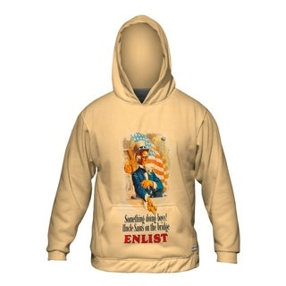 Mens Hoodie Sweater Uncle Sam Something Doing Boys