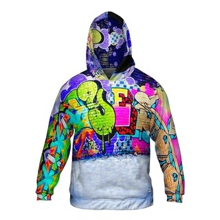 Mens Hoodie Sweater Graffiti And E