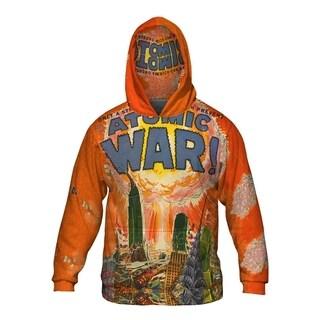 Mens Hoodie Sweater Atomic War Comic Retro