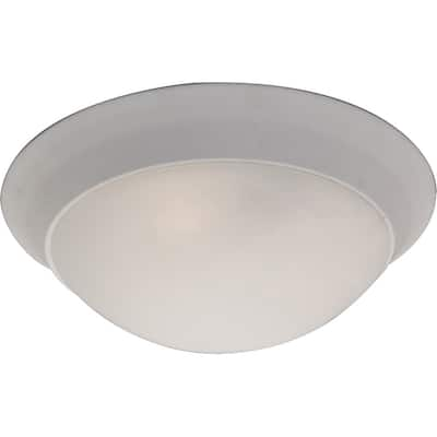 """Flair 14"""" Wide Iron Flush Mount Ceiling Light - Polished brass - Polished brass"""