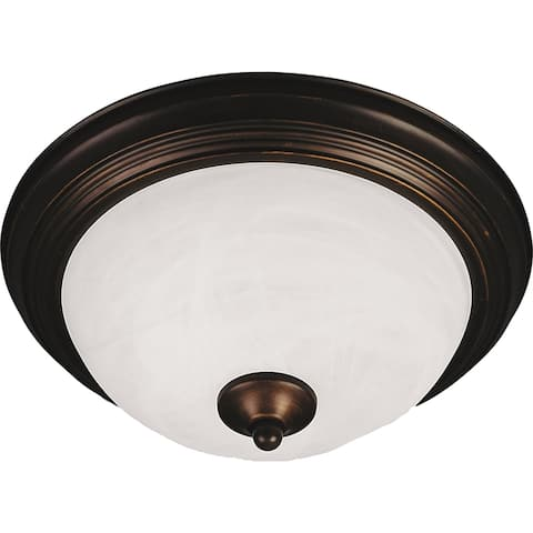 "Essentials 13.5"" Wide Iron Flush Mount Ceiling Light"