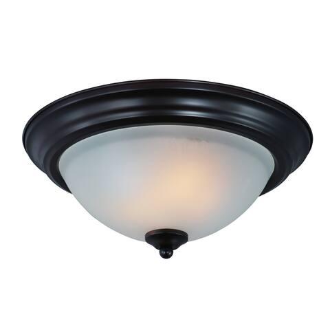 """Flush Mount 13.5"""" Wide Steel Flush Mount Ceiling Light"""