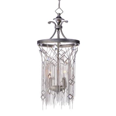 """Alessandra 2-light 10"""" Wide Steel Pendant - silver mist - silver mist"""