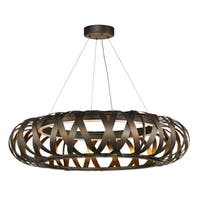 "Weave 1-light 30"" Wide Metal Pendant - bronze gilt / gold"