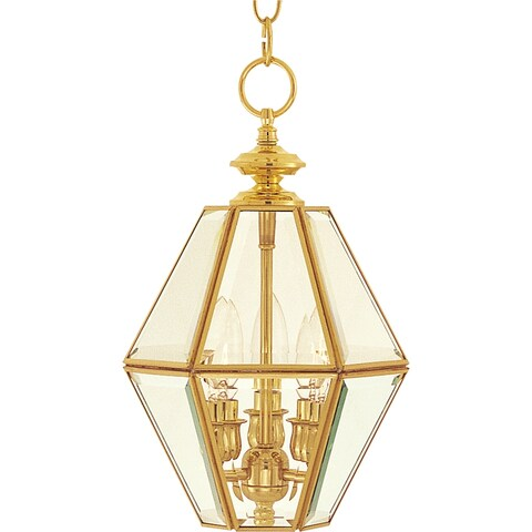 """Bound Glass 3-light 9"""" Wide Copper Pendant - Polished brass"""