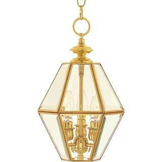 "Bound Glass 3-light 9"" Wide Copper Pendant - Polished brass"